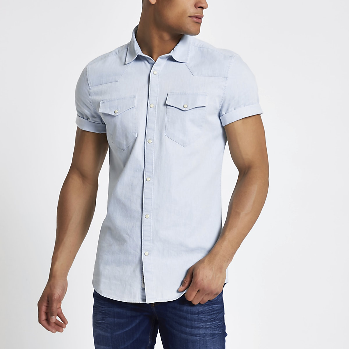 23c0bf44bd Short Sleeve Denim Shirt Mens – EDGE Engineering and Consulting Limited