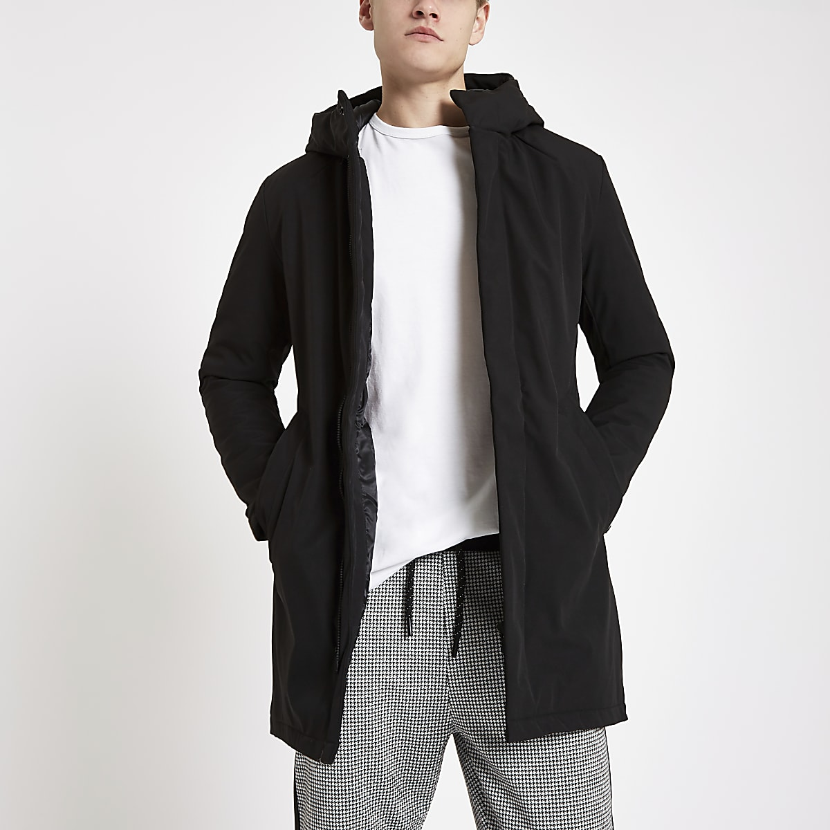 Jack & Jones black parka jacket