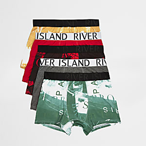 Red photographic print trunks multipack