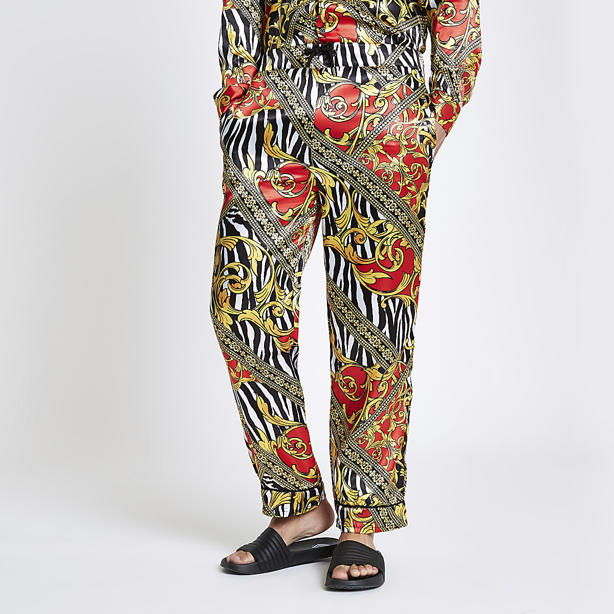 Jaded London yellow zebra print trousers