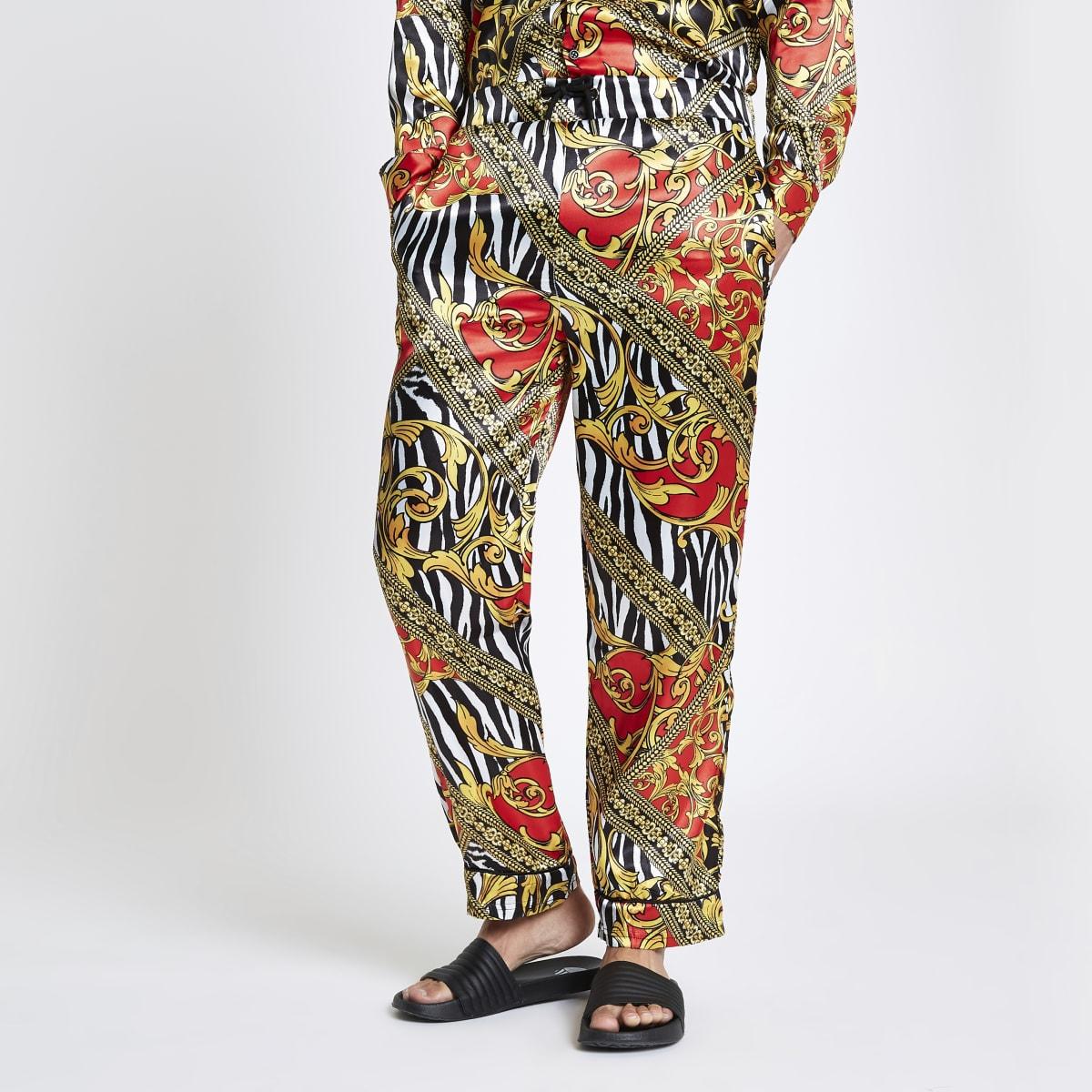 Jaded London yellow zebra print pants