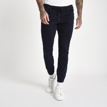 Dark blue Ryan denim jogger jeans