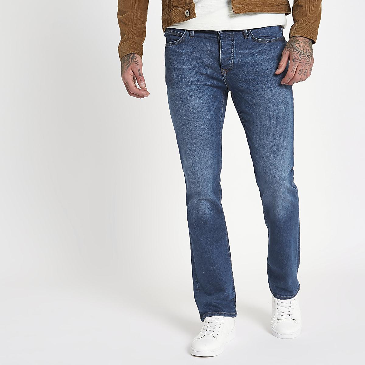 Clint - Bootcut Jeans in Blau