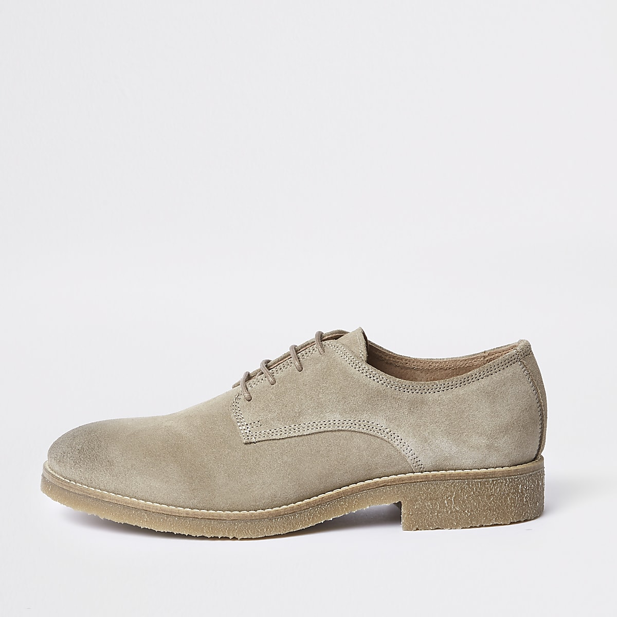 Stone suede derby shoes