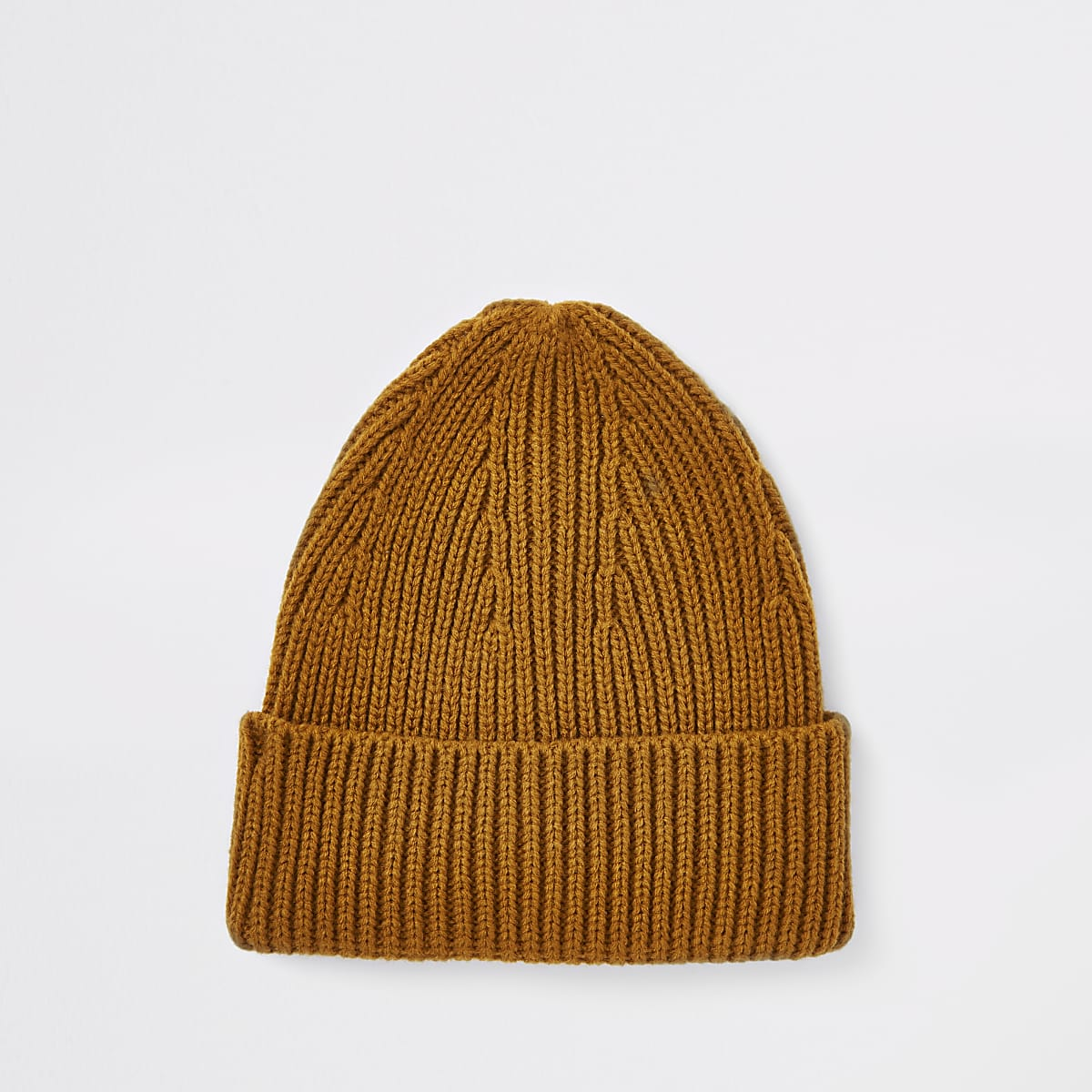 Yellow fisherman beanie hat