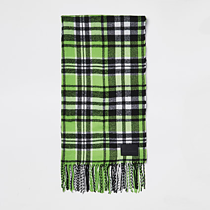 Green check scarf