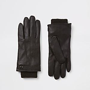 Bruine leren handschoenen