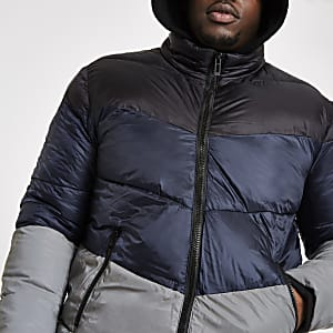 Big and Tall – Doudoune bleue réfléchissante