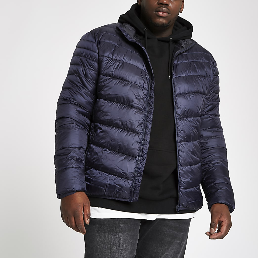 Big and Tall navy puffer jacket