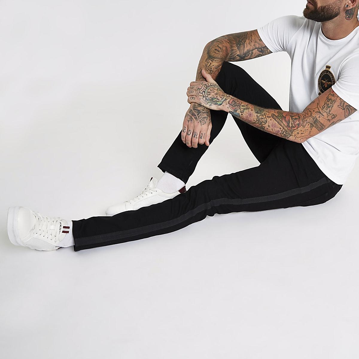 Sid – Jean skinny bleu à bande latérale