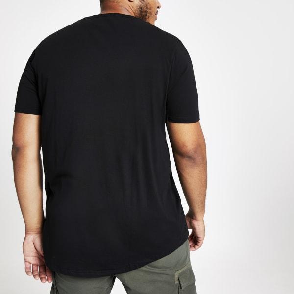 River Island - big & tall – t-shirt  à ourlet - 4