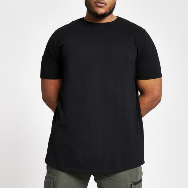 River Island - big & tall – t-shirt  à ourlet - 1