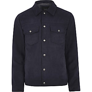 Jack & Jones Premium – Marineblaue Jacke