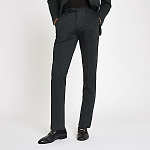Jack & Jones green slim fit suit trousers