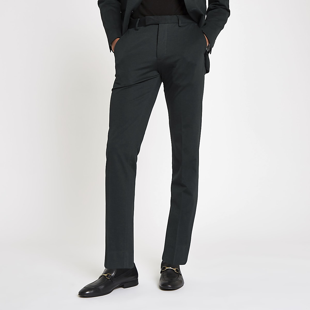 Jack & Jones - Groene slim-fit pantalon