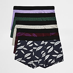 Big and Tall feather print hipsters multipack