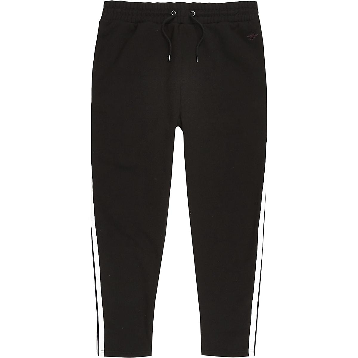 397cbfb48cfb Black tape side slim fit joggers - Joggers - men