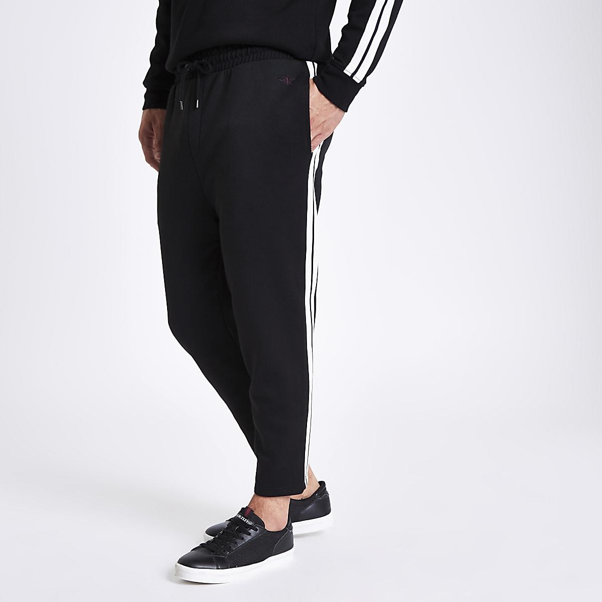 Pantalon de jogging slim noir avec bande latérale