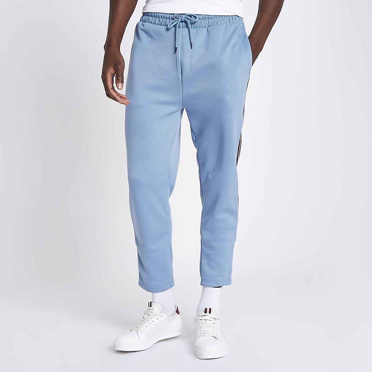Blue tape side slim fit joggers