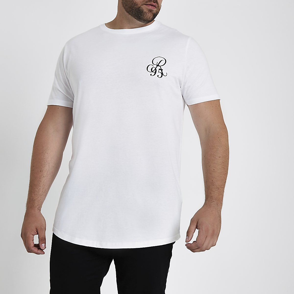 Big and Tall – T-shirt ajusté R96 blanc