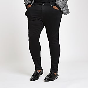 Big and Tall black super skinny jeans