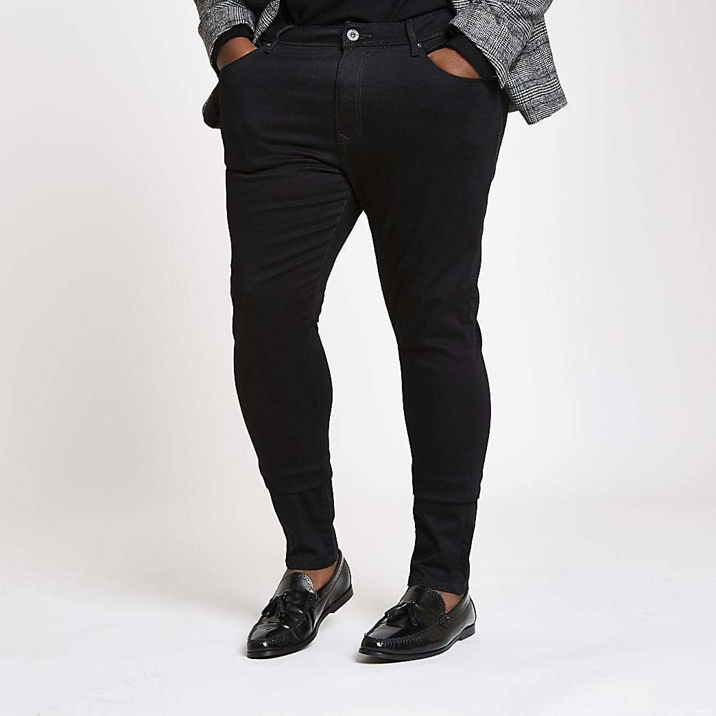 Big and Tall black Danny super skinny jeans