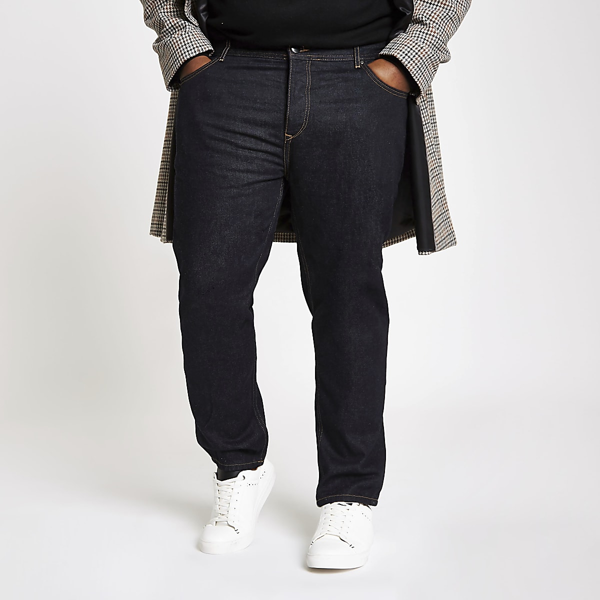 Big and Tall – Jean fuselé bleu foncé