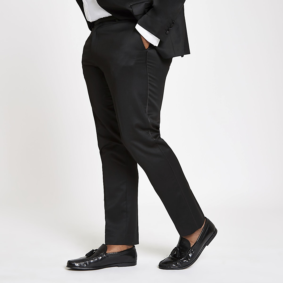 Big and Tall - Zwarte skinny pantalon