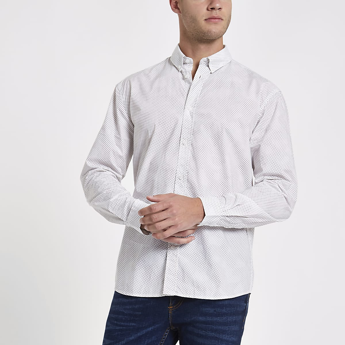 Minimum grey spot shirt