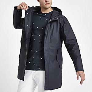 Minimum navy hooded jacket