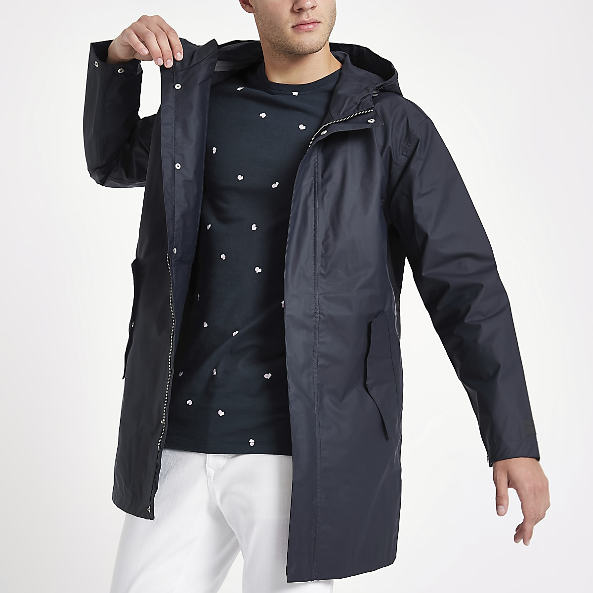 Minimum navy hooded jacket
