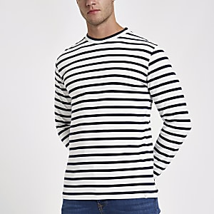 Minimum navy stripe long sleeve top