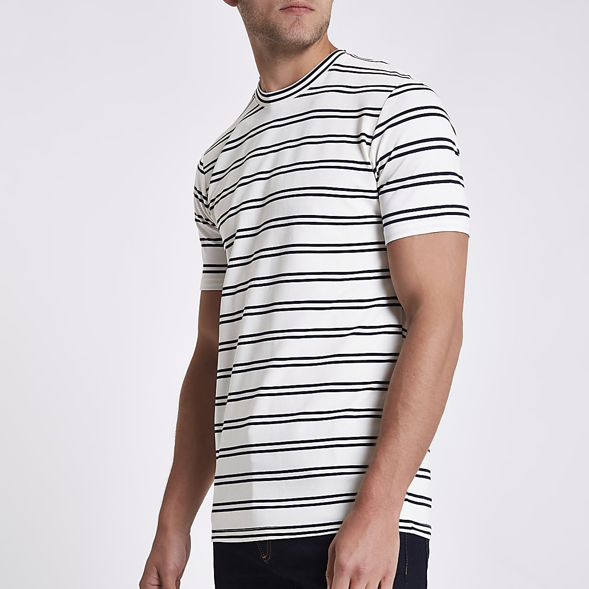 Minimum white stripe T-shirt