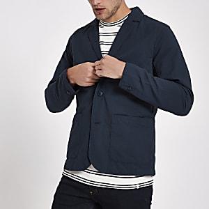 Minimum navy textured blazer