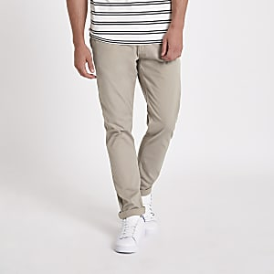 Minimum brown slim fit chino pants