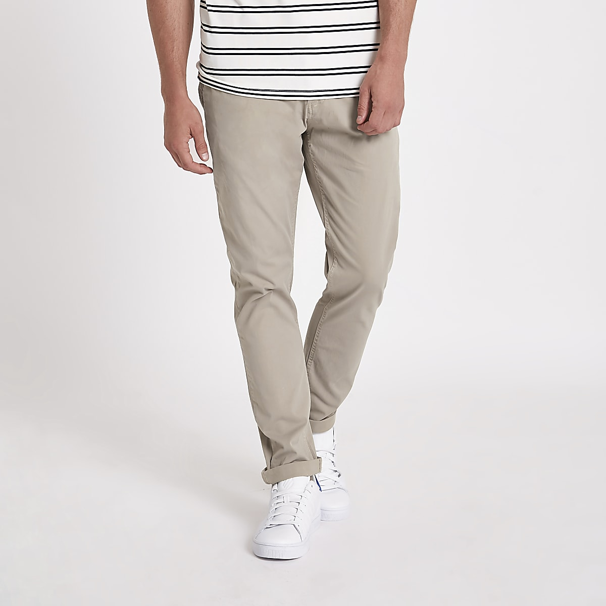 Minimum brown slim fit chino trousers