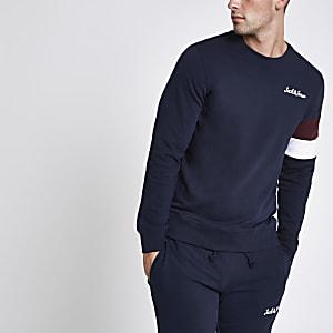 Jack & Jones - Marineblauw sweatshirt met ronde hals
