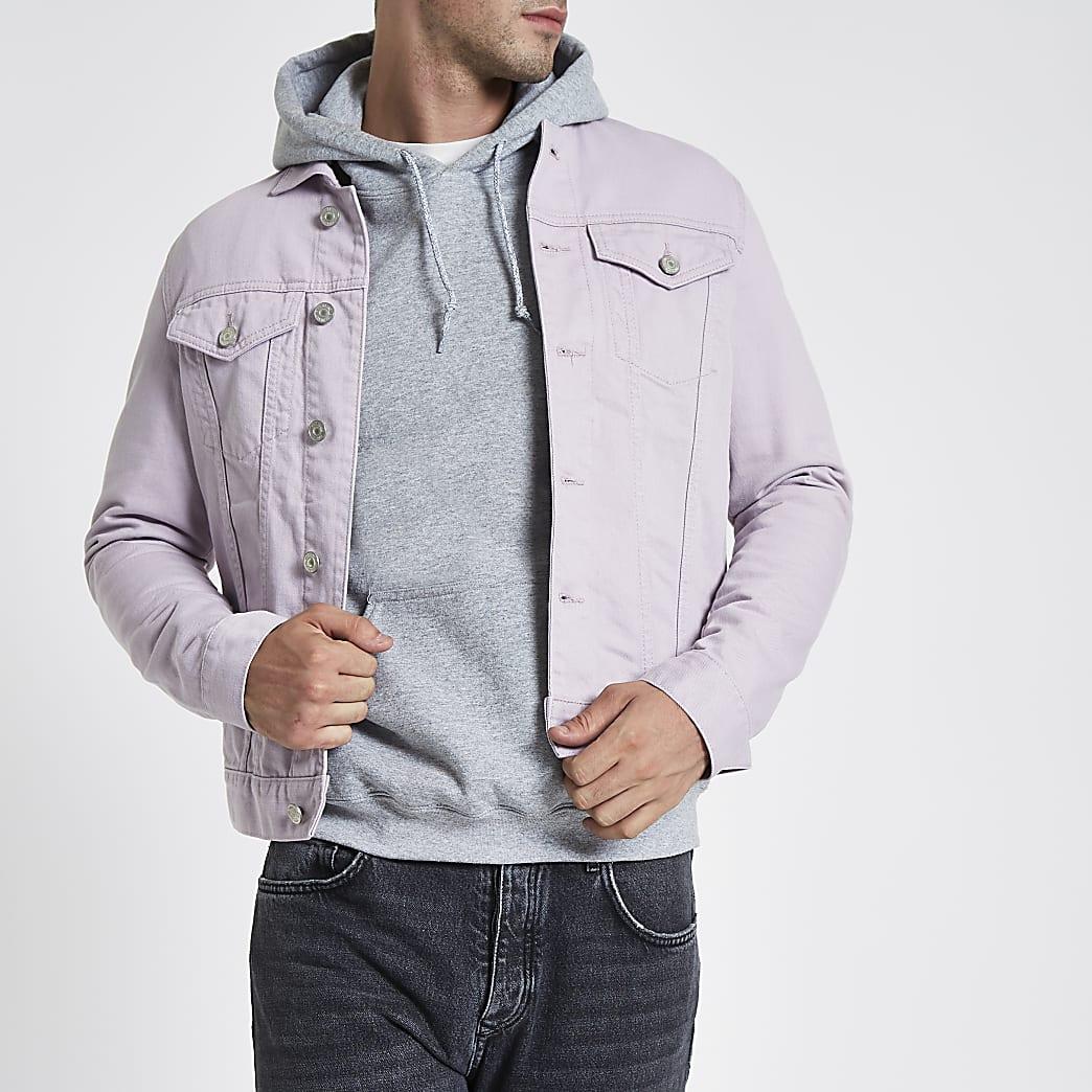 Veste en jean violet clair