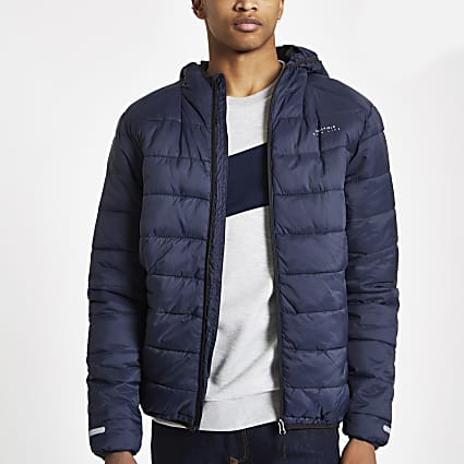 Bellfield navy puffer jacket