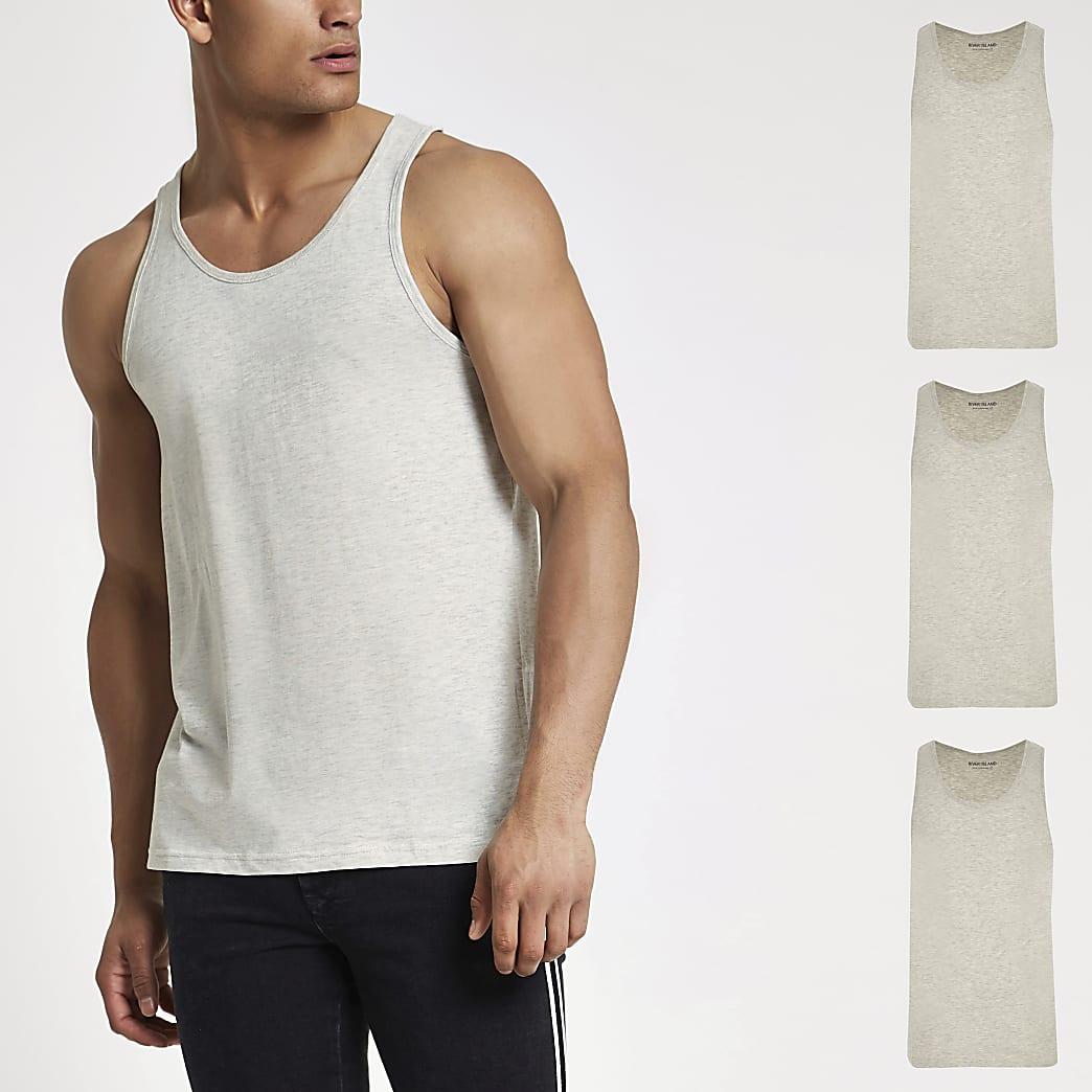 Set van 3 grijze hemdjes