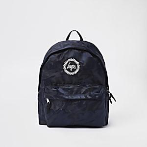 Hype – Schwarzer Rucksack mit Camouflage