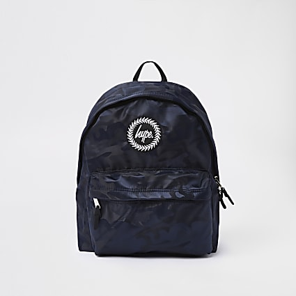 Hype black camo backpack