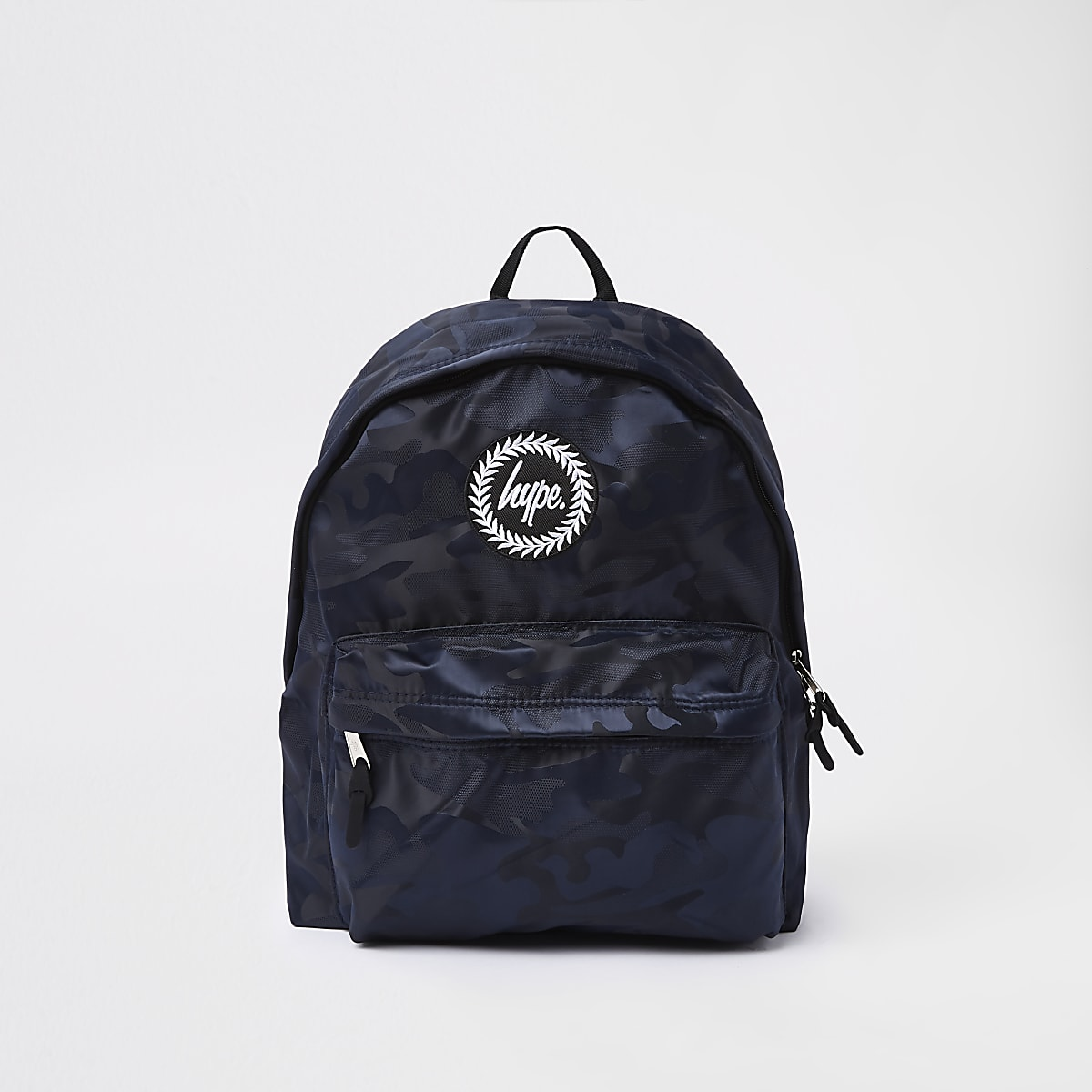 Hype black camo backpack