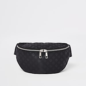 Black RI monogram cross body