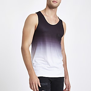 Black fade 'ninety eight' slim fit tank