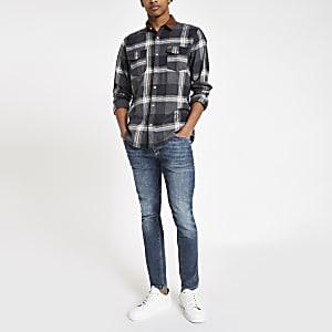 Only & Sons - Bruin geruit overhemd met lange mouwen
