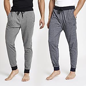 Lot de 2 pantalons de pyjama verts style jogging