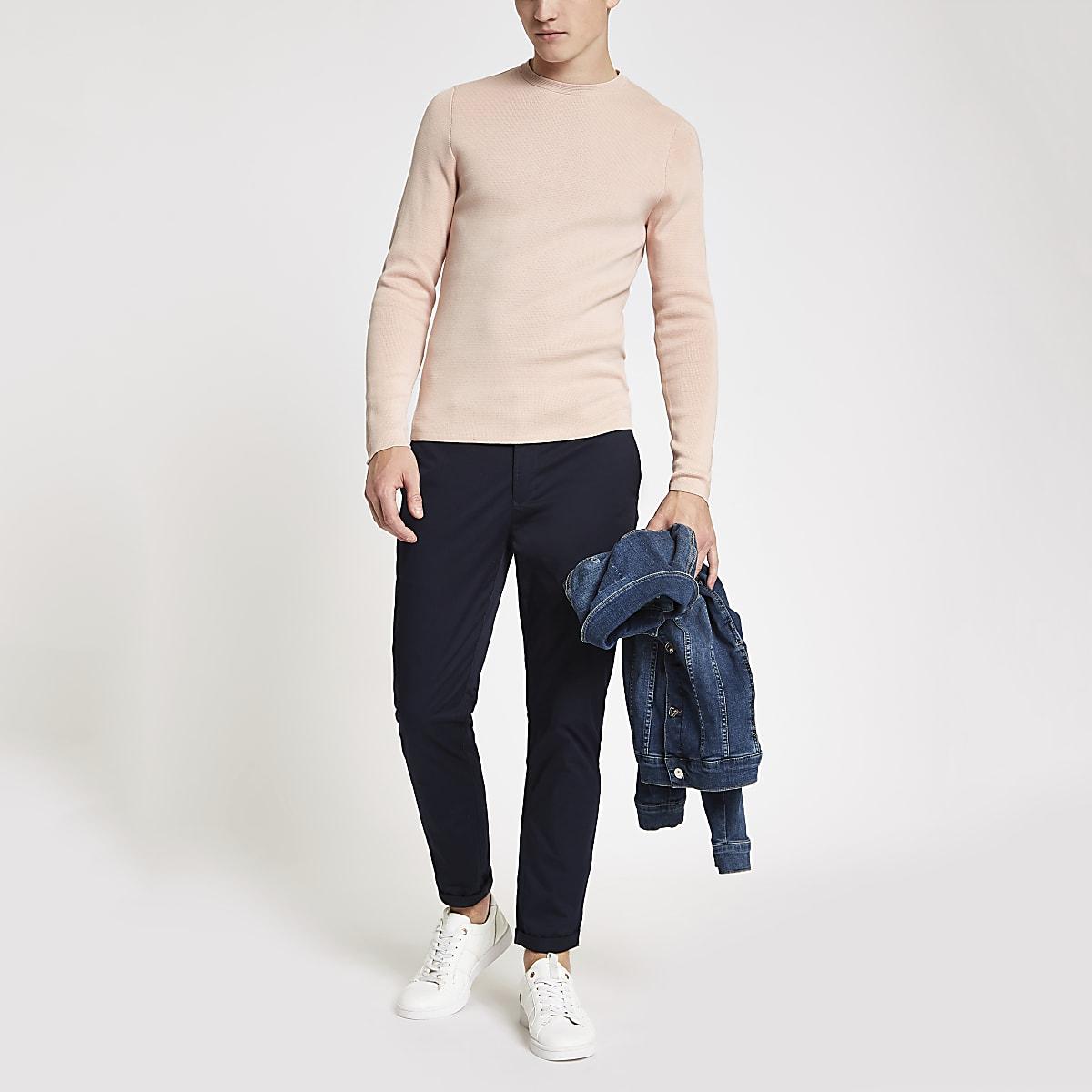 Jack & Jones Premium pink crew neck top