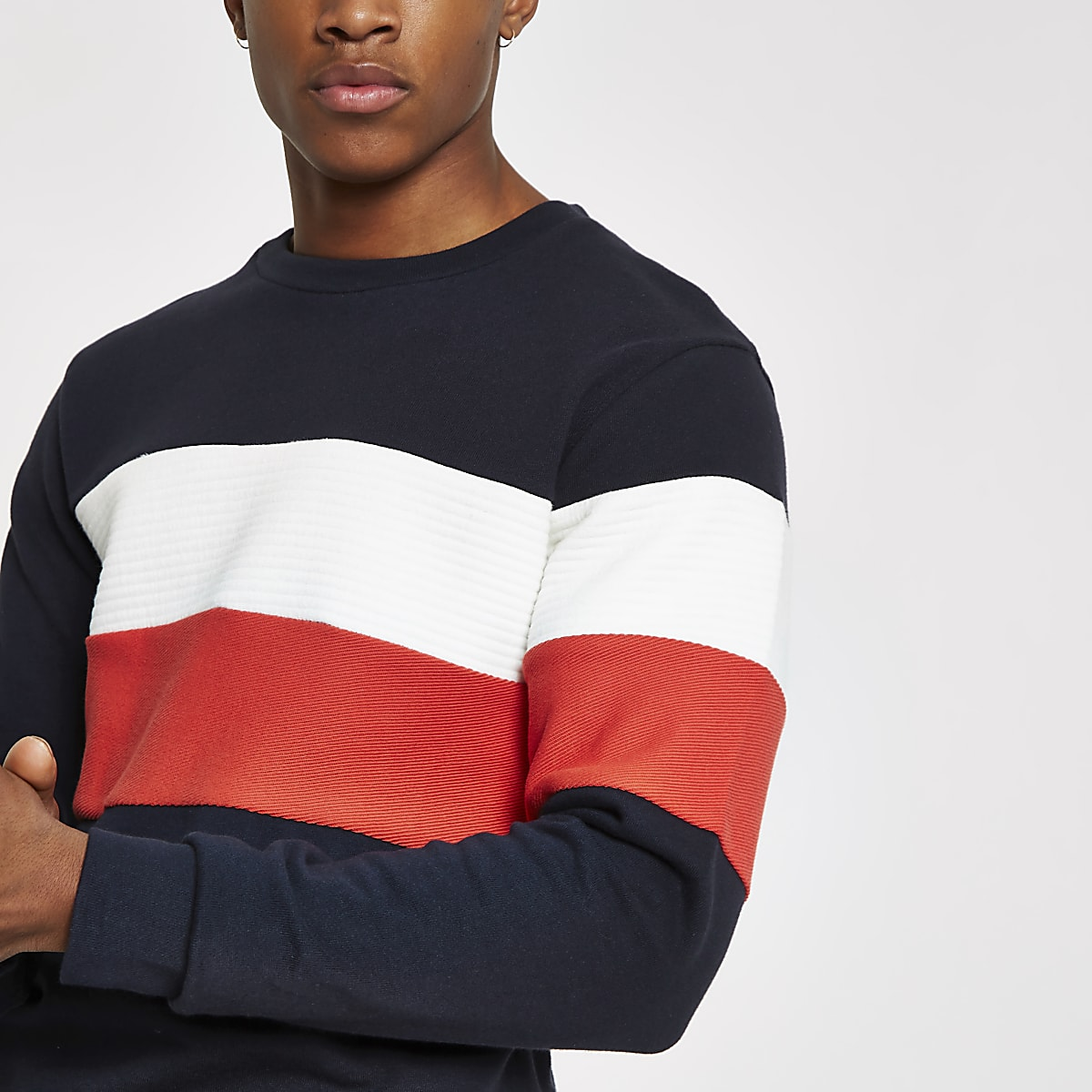 Jack & Jones blue blocked sweatshirt