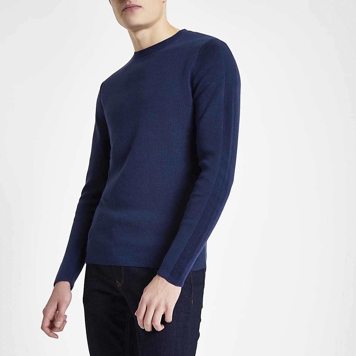 Jack & Jones Premium blue crew neck top